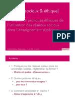 """Présentation """"Éthique & réseaux sociaux"""" - Conférence Educpros #epconf"""