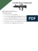 L98A2 Cadet GP Rifle Weapon Handling Drills