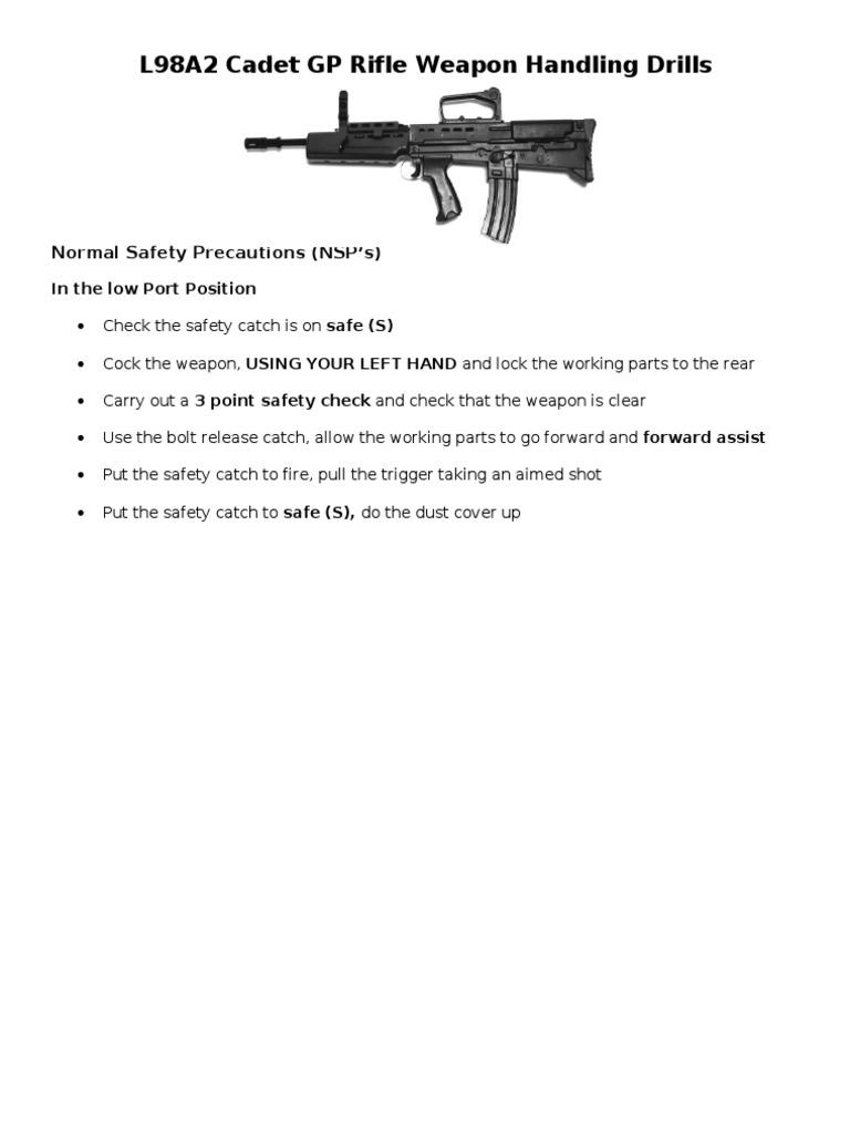 L98a2 cadet gp rifle weapon handling drills trigger firearms l98a2 cadet gp rifle weapon handling drills trigger firearms projectiles pooptronica