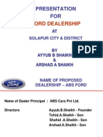 Dealership Proposal