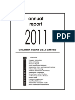 Chashma Suger Mills Limited Annual Report 2011