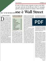 L'occasione è Wall Street - fonte