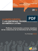 Dossier de Presse TPP Madrid 2010