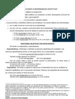 Analisis Sintactico. Compuestas. Subordinadas Adjetivas Teoría 01