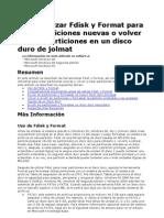 Manual de Fdisk y Formateo de Disco Duro