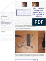 How to Build a USB Device With PIC 18F4550 or 18F2550 (Website)
