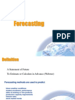 Overview of Forecasting Techniques