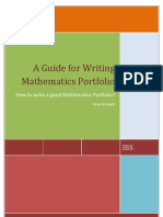 A Guide for Writing Mathematics Portfolio