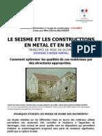5. Le Seisme Et Les Constructions en Metal Et en Bois