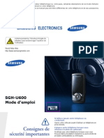 Mode Emploi Samsung U600