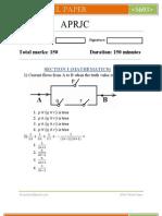 APRJC model paper