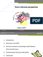 WTO From a German Perspective