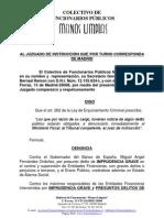 DENUNCIA AL GOBERNADOR DEL BANCO DE ESPAÑA