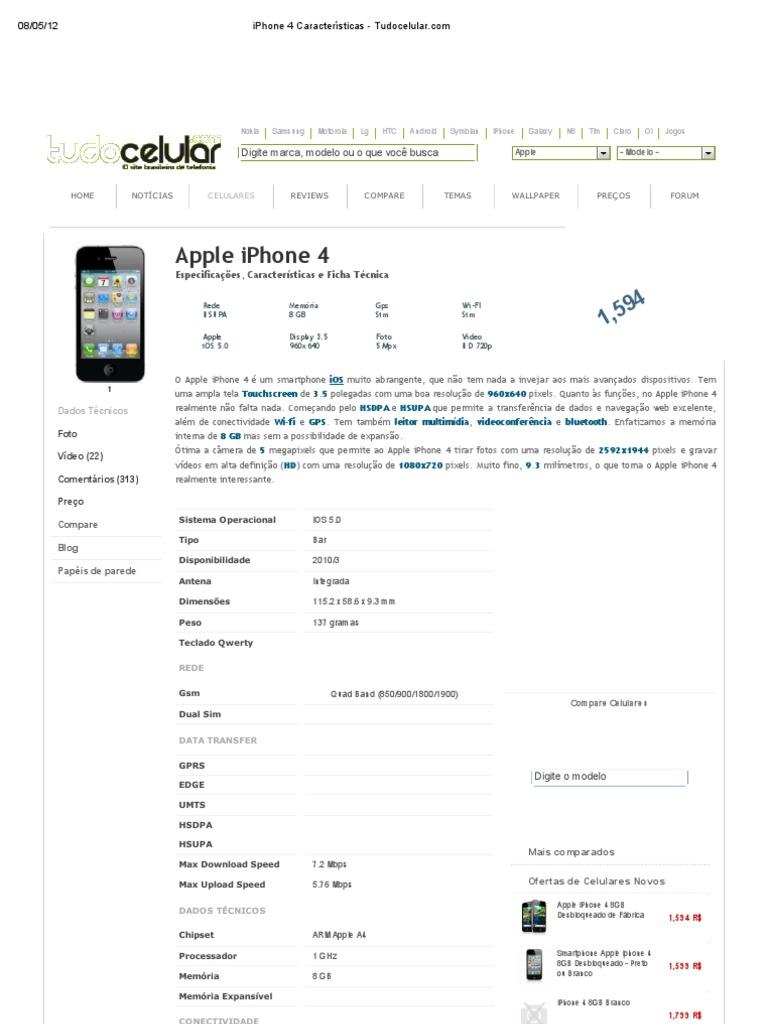 6913614d266 iPhone 4 Características