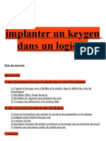 Implanter un keygen