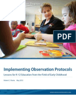 Implementing Observation Protocols