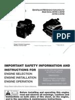 Briggs Owners Manual