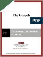 The Gospels - Lesson 3 - Transcript