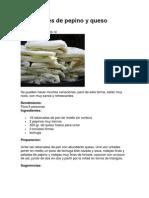 Sandwiches de Pepino y Queso