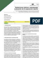 Radiaciones ópticas NTP