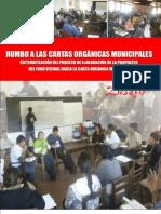 Rumbo a las Cartas Orgánicas Municipales - Sistematización del proceso de la propuesta del Foro Vecinal hacia la Carta Orgánica Municipal