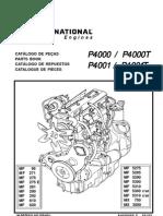 MAXION CATÁLOGO DE PEÇAS MOTOR P4000-4000T-P4001-4001T AGRÍCOLA
