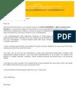 Application Letter InEnglish