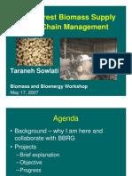 Forest Biomass Supply Chain Management