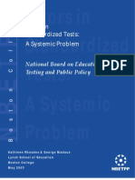 Errors in  Standardized Tests