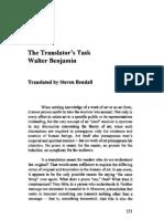 The Translator´s Task - Walter Benjamin 1923