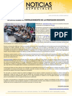 APUNTES SOBRE EL FORTALECIMIENTO DE LA PROFESION DOCENTE