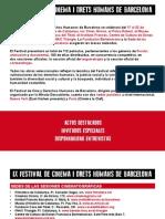 Actos destacados. Festival de Cine y Derechos Humanos de Barcelona 2012