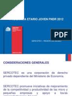 Presentación FNDR MIPE JOVEN 2012