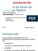 Sistemas de Bases de Datos de Objetos
