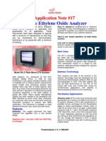 Analysis of Ethylene Oxide in the Workplace by GC-PID