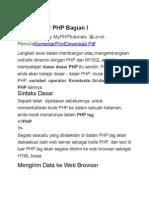 Dasar Dasar PHP Bagian I