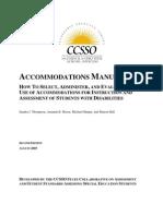 OSEP Accommodations Manual