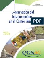 Conservacion Del Bosque Andino en El Canton Mejia