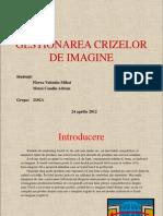 Gestionarea Crizelor de Imagine