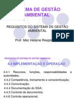 Implementaçao e Operaçao do SGA