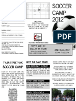 Soccer Camp Brochure 2012