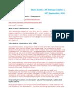 AP Bio Chapter 1 - Study Guide