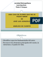Una caja de plomo que no se podía abrir - José Luis González