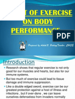 Effects of Exercise on Body Performance