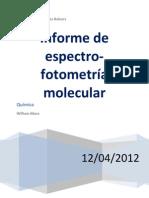 Informe Espectrofotometria Molecular