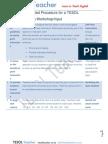 Workshop Plan for Instruction Set Input