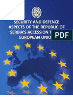 Security and Defence Aspects of the Republic of Serbia's Accession to the European Union