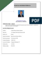 Curriculum Vitae 2012 Marcelo Romero Pedraza