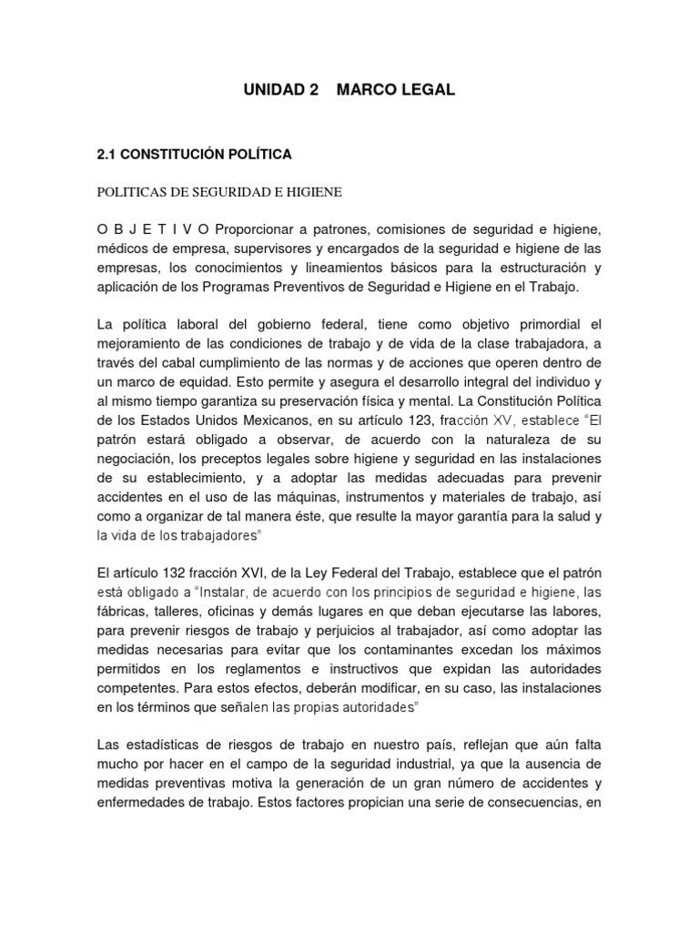 Unidad 2 Marco Legal