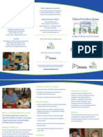 Ontario Early Years Centre Brochure